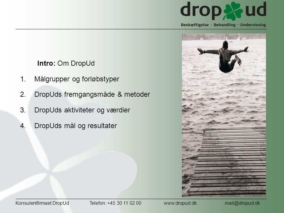 Målgrupper og forløbstyper DropUds fremgangsmåde & metoder