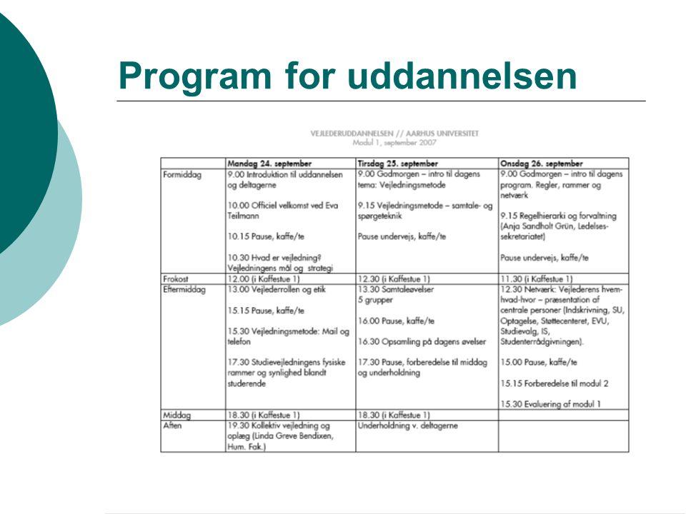 Program for uddannelsen