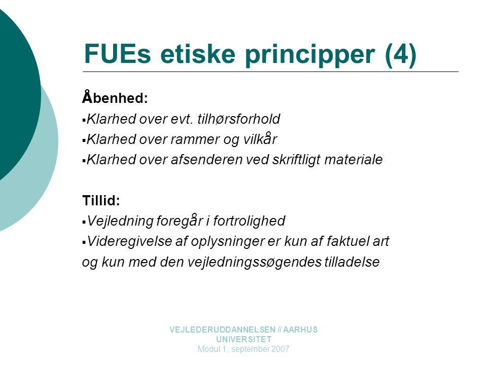 FUEs etiske principper (4)