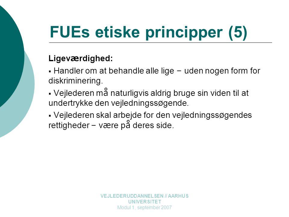FUEs etiske principper (5)