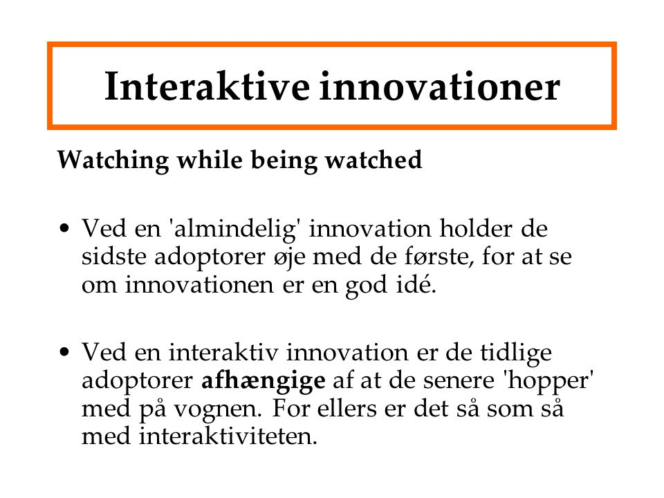 Interaktive innovationer