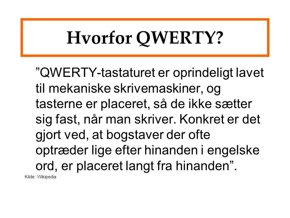 Hvorfor QWERTY