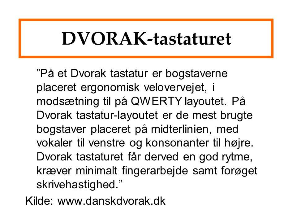 DVORAK-tastaturet