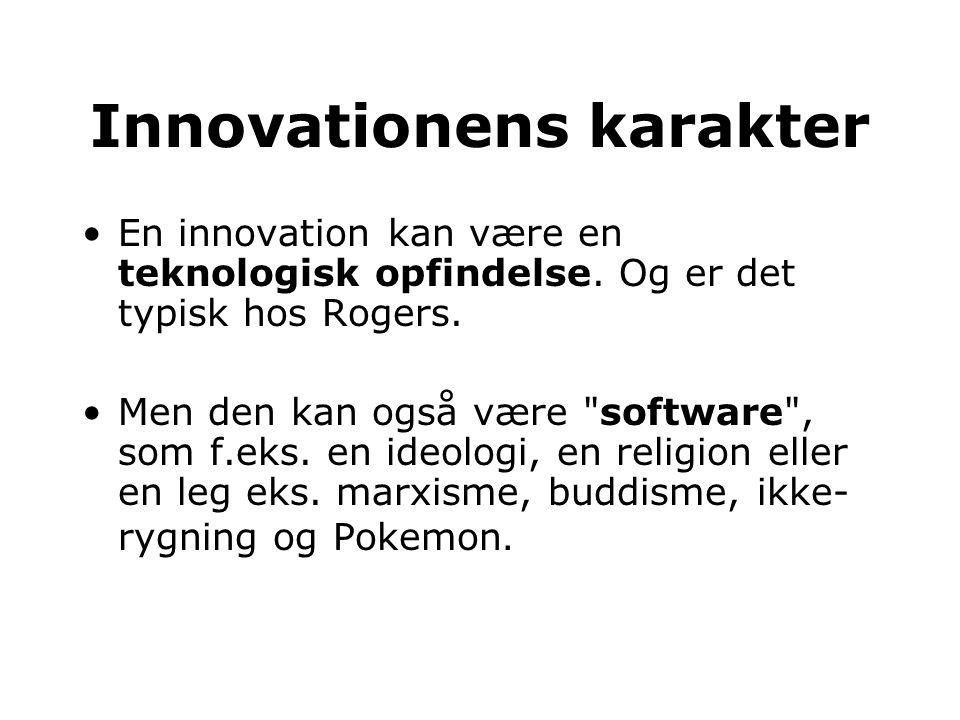 Innovationens karakter