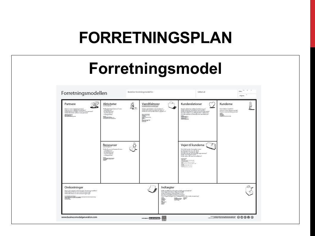 forretningsplan Forretningsmodel