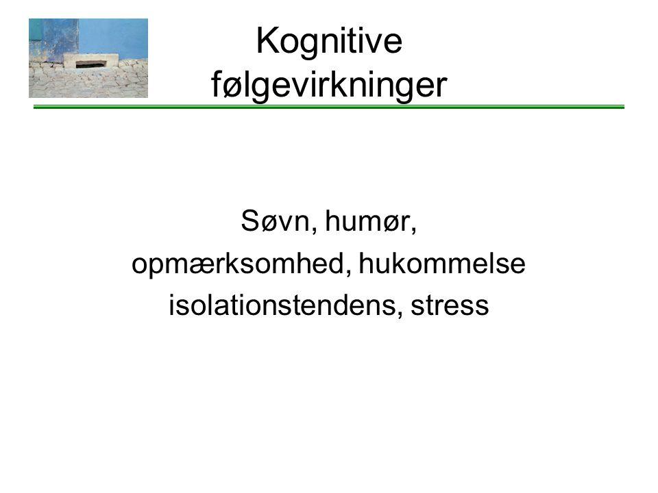 Kognitive følgevirkninger