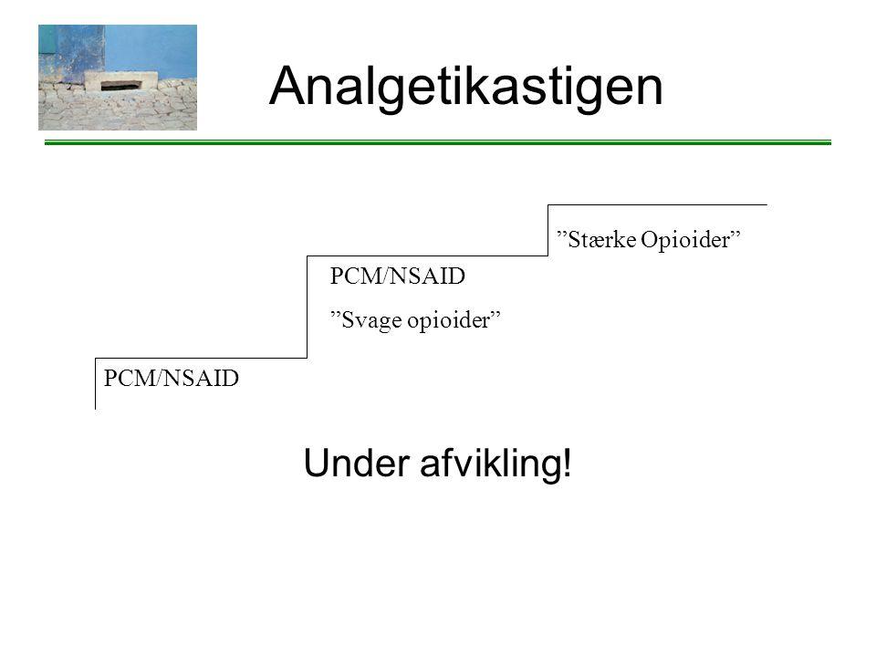 Analgetikastigen Under afvikling! Stærke Opioider PCM/NSAID