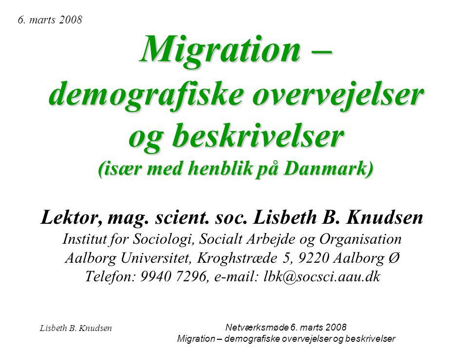 Lektor, mag. scient. soc. Lisbeth B. Knudsen