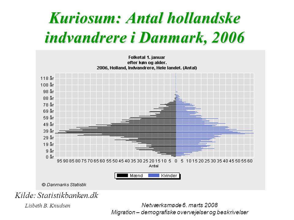 Kuriosum: Antal hollandske indvandrere i Danmark, 2006