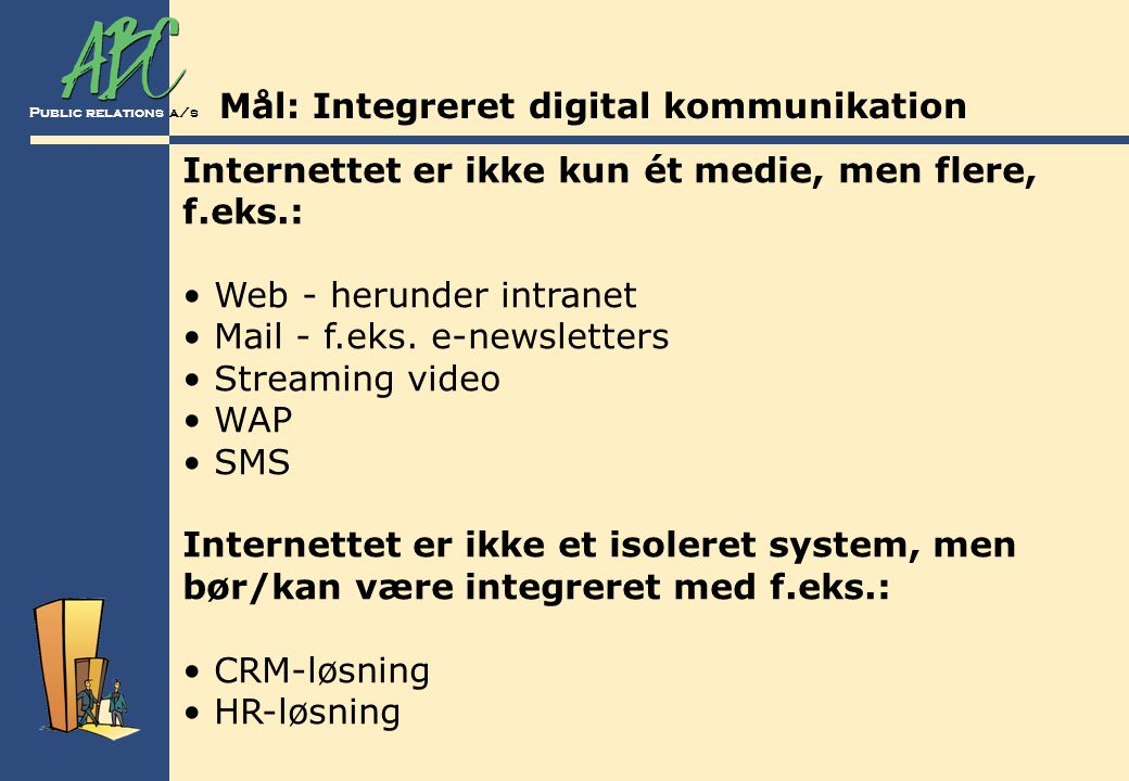 Mål: Integreret digital kommunikation