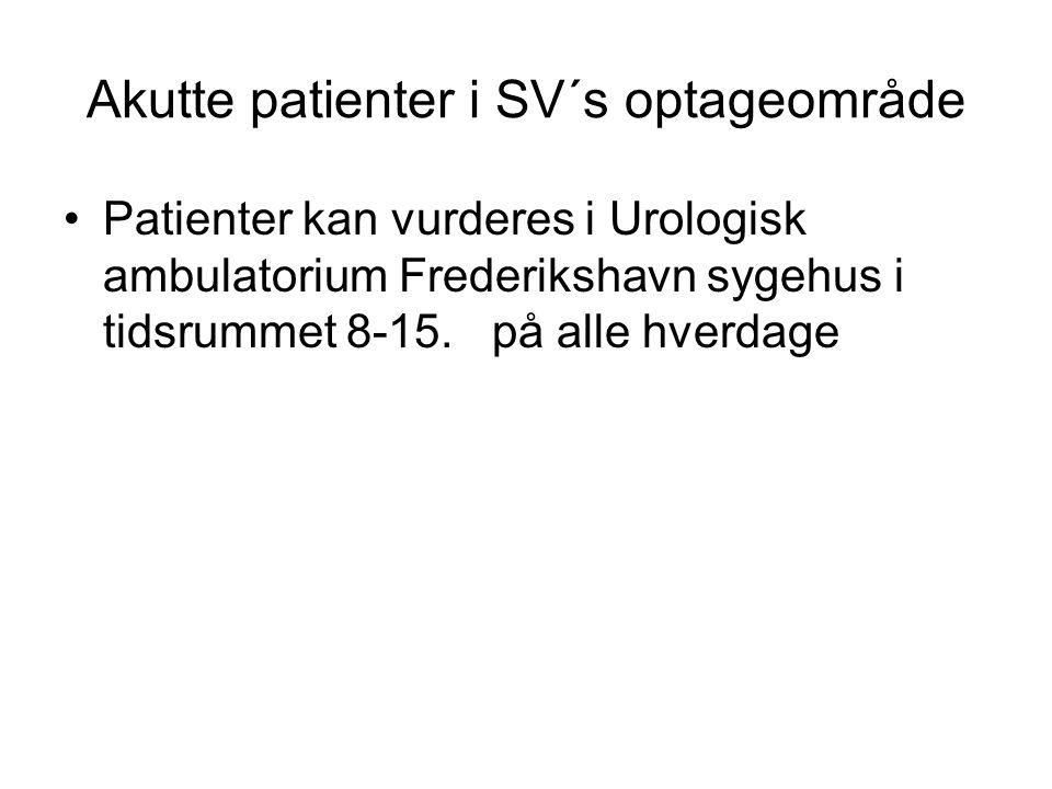 Akutte patienter i SV´s optageområde