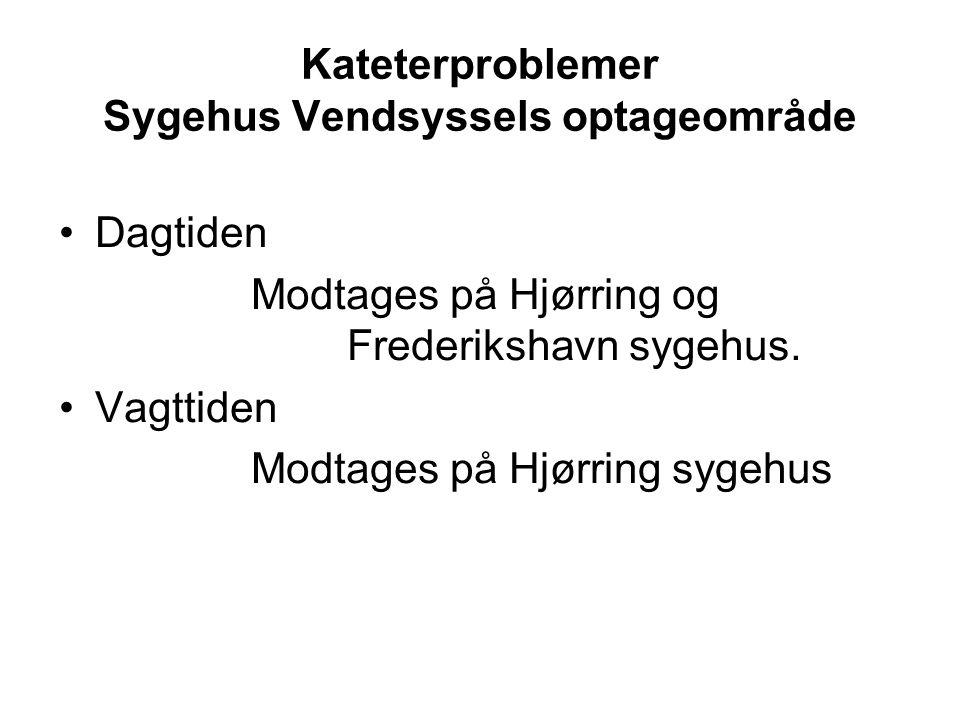 Kateterproblemer Sygehus Vendsyssels optageområde