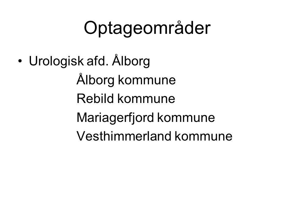 Optageområder Urologisk afd. Ålborg Ålborg kommune Rebild kommune