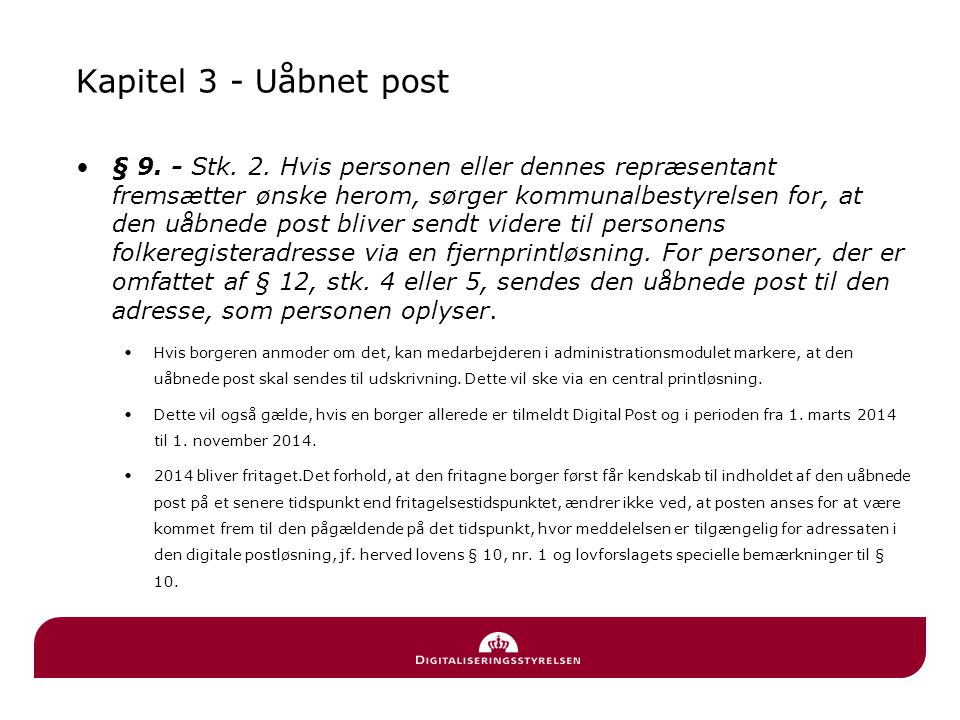 Kapitel 3 - Uåbnet post
