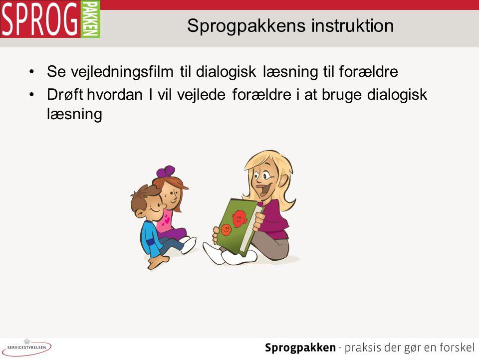 Sprogpakkens instruktion