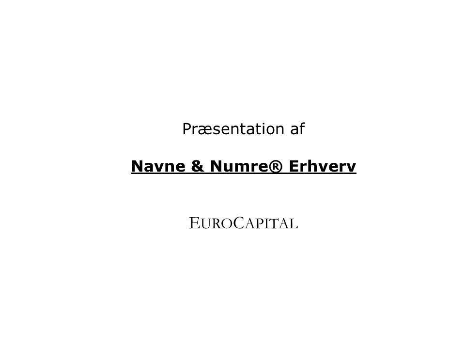 Præsentation af Navne & Numre® Erhverv EUROCAPITAL