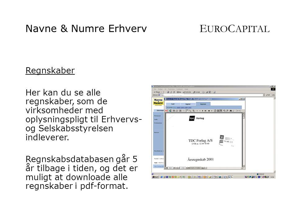 Navne & Numre Erhverv EUROCAPITAL
