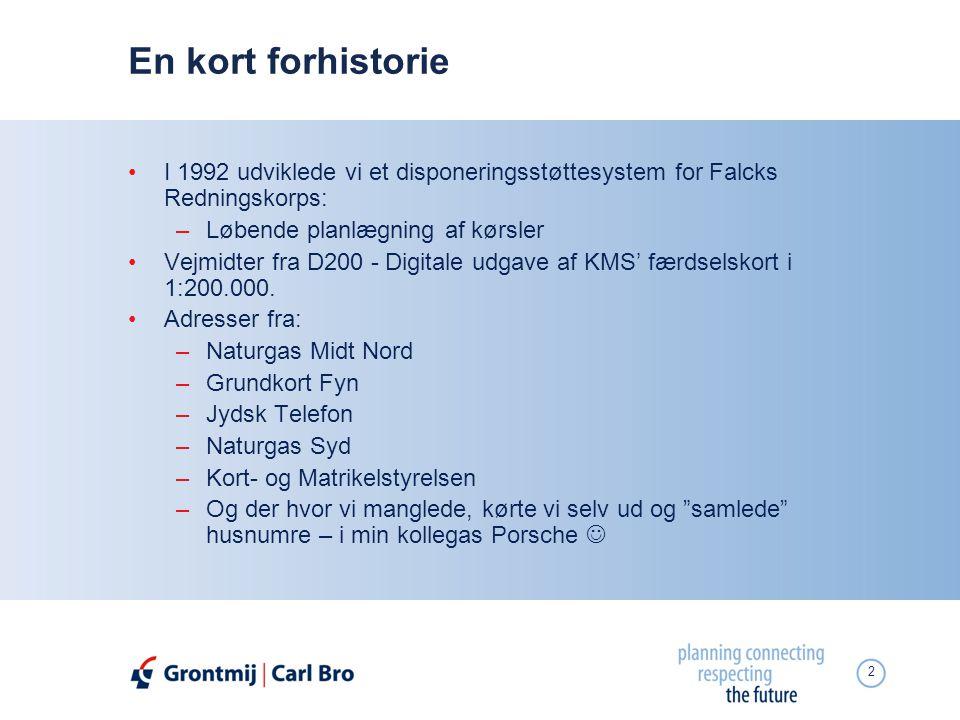 En kort forhistorie I 1992 udviklede vi et disponeringsstøttesystem for Falcks Redningskorps: Løbende planlægning af kørsler.