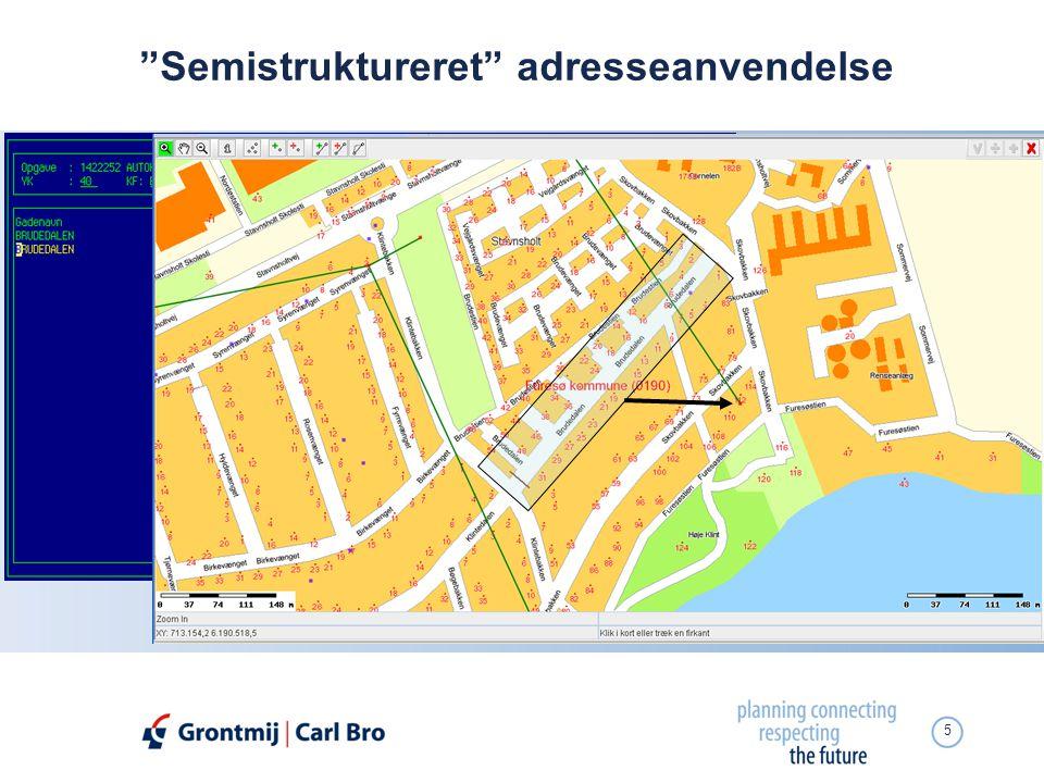 Semistruktureret adresseanvendelse