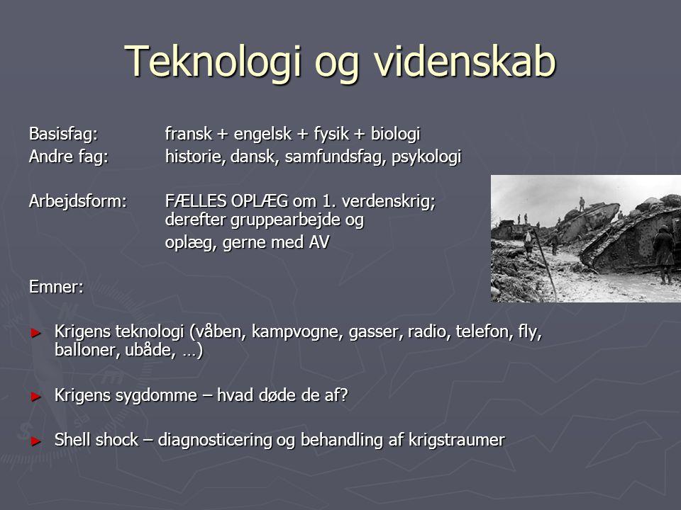 Teknologi og videnskab