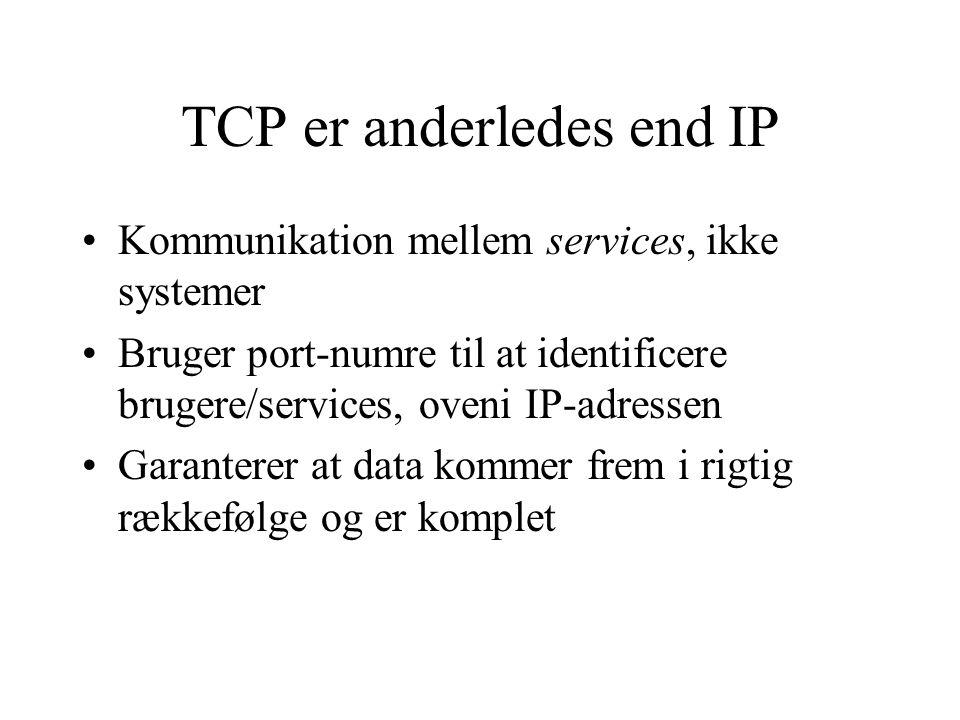 TCP er anderledes end IP