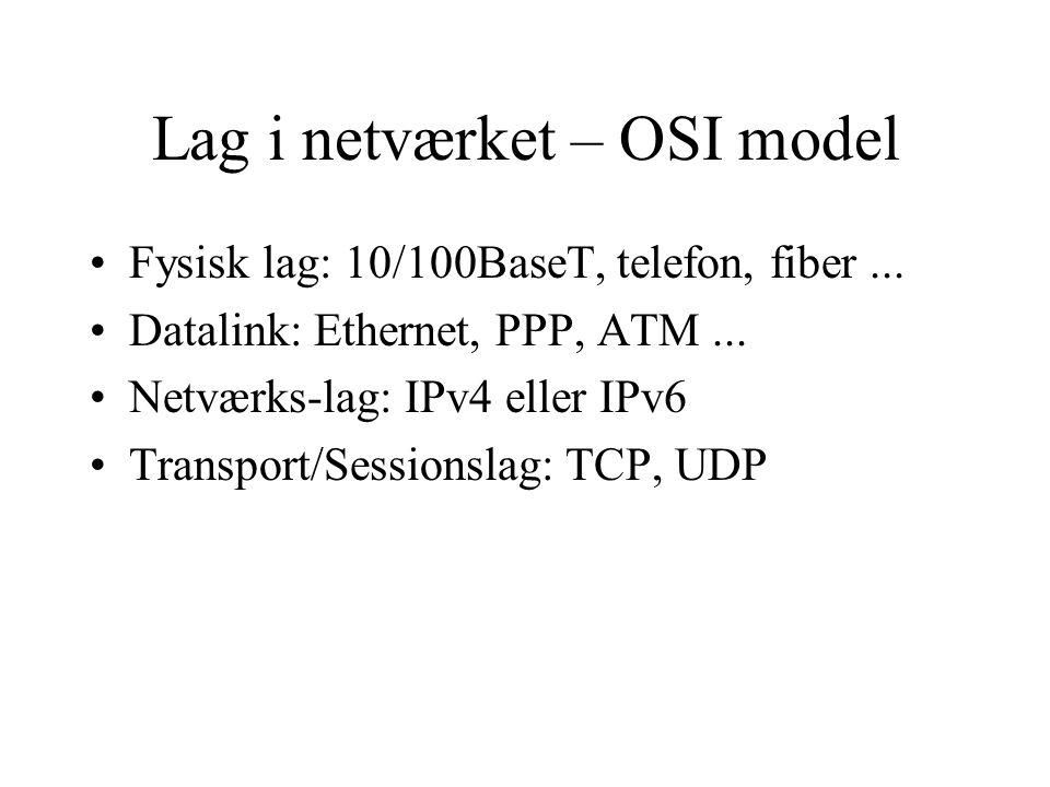 Lag i netværket – OSI model