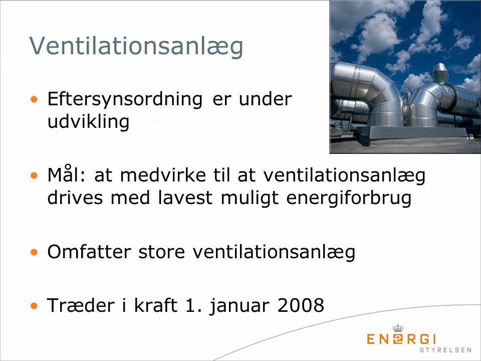 Ventilationsanlæg Eftersynsordning er under udvikling