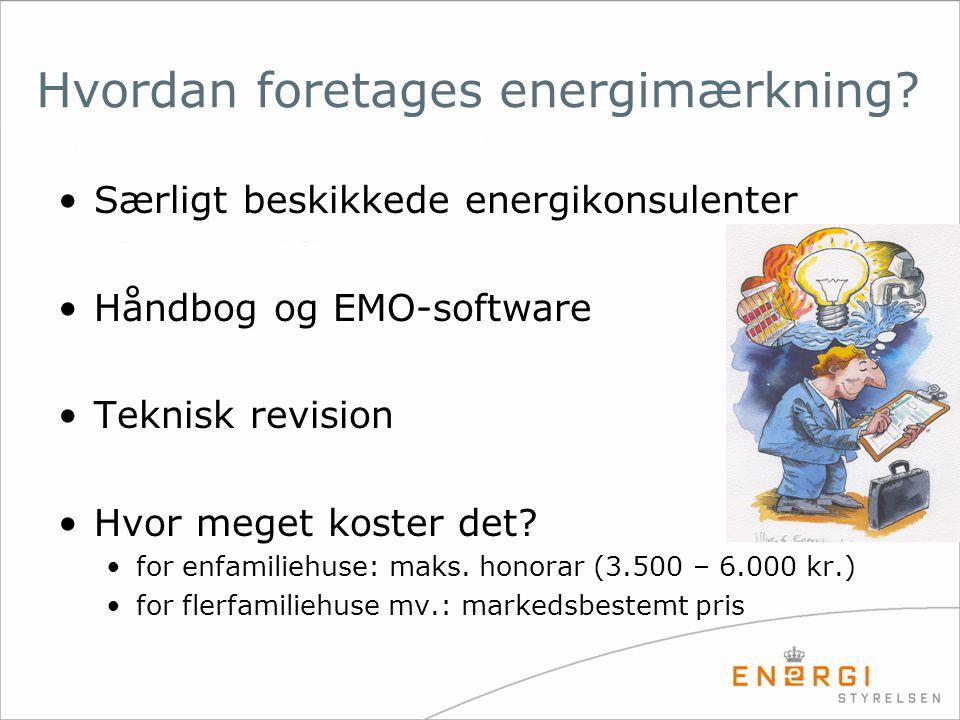 Hvordan foretages energimærkning