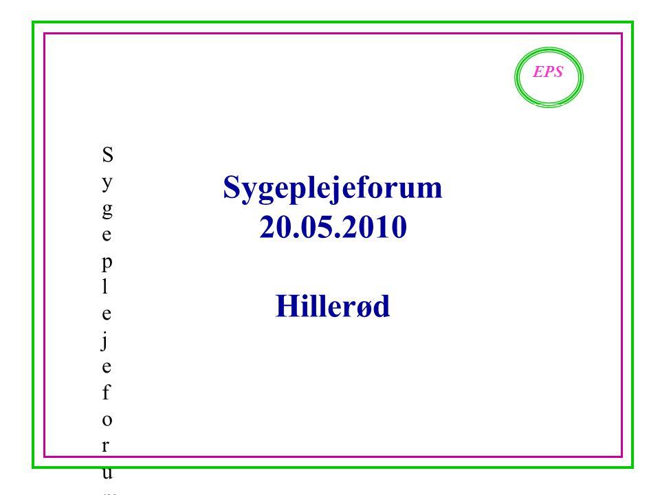 Sygeplejeforum 20.05.2010 Hillerød