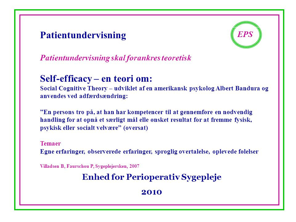 Enhed for Perioperativ Sygepleje