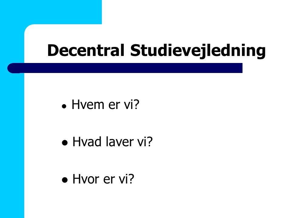 Decentral Studievejledning