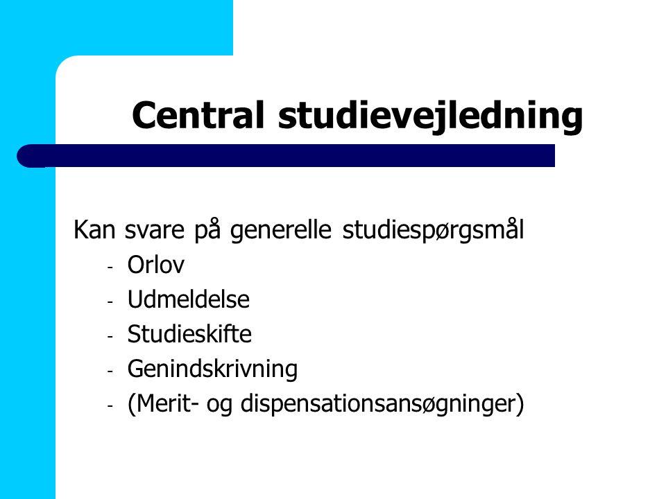 Central studievejledning