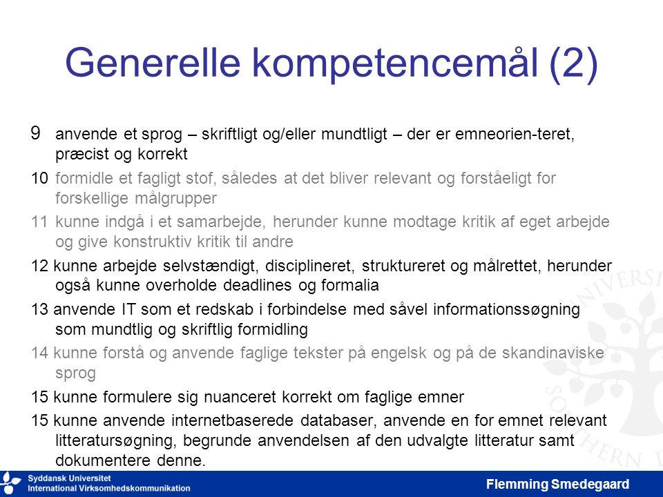 Generelle kompetencemål (2)
