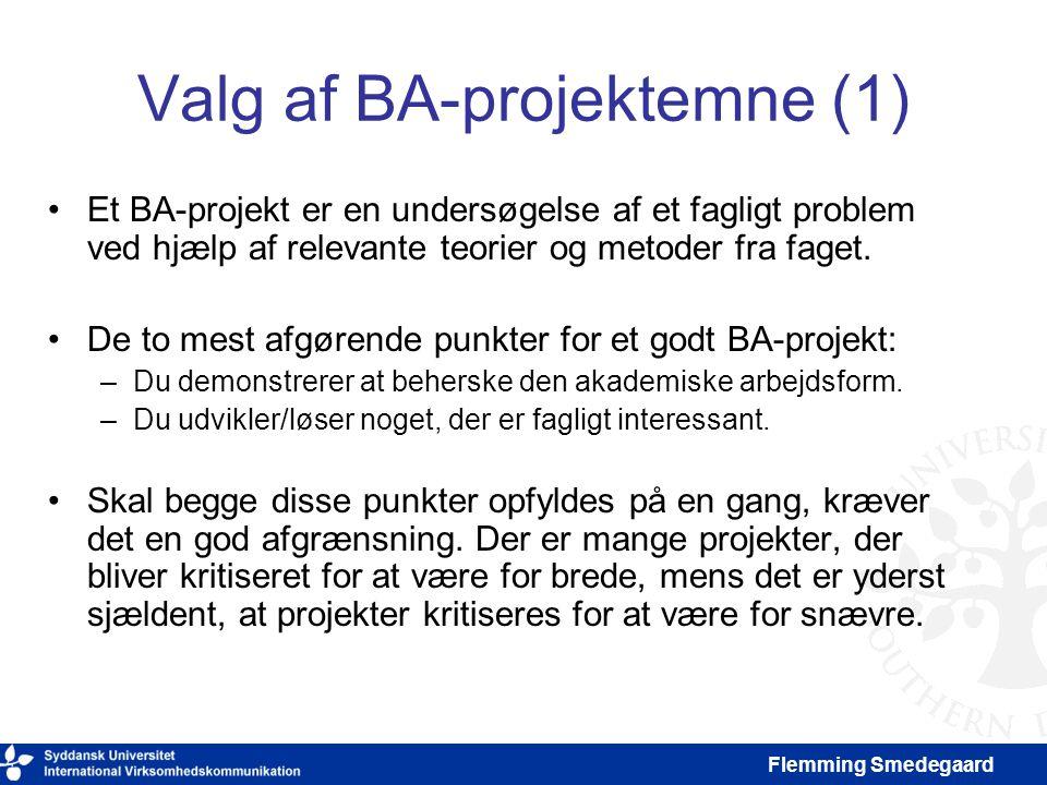 Valg af BA-projektemne (1)