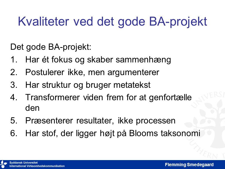 Kvaliteter ved det gode BA-projekt