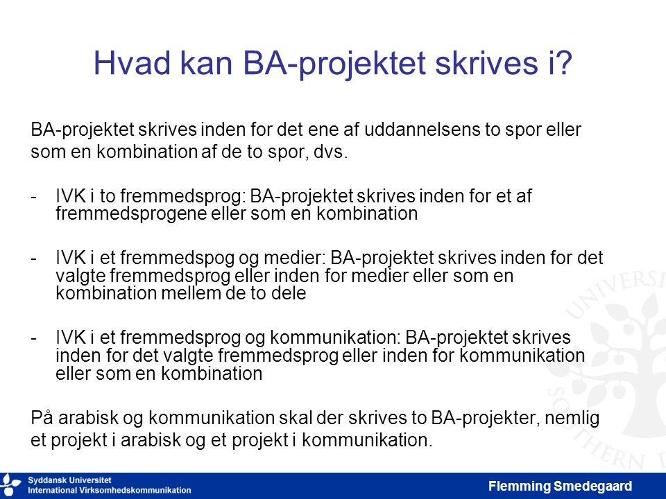 Hvad kan BA-projektet skrives i