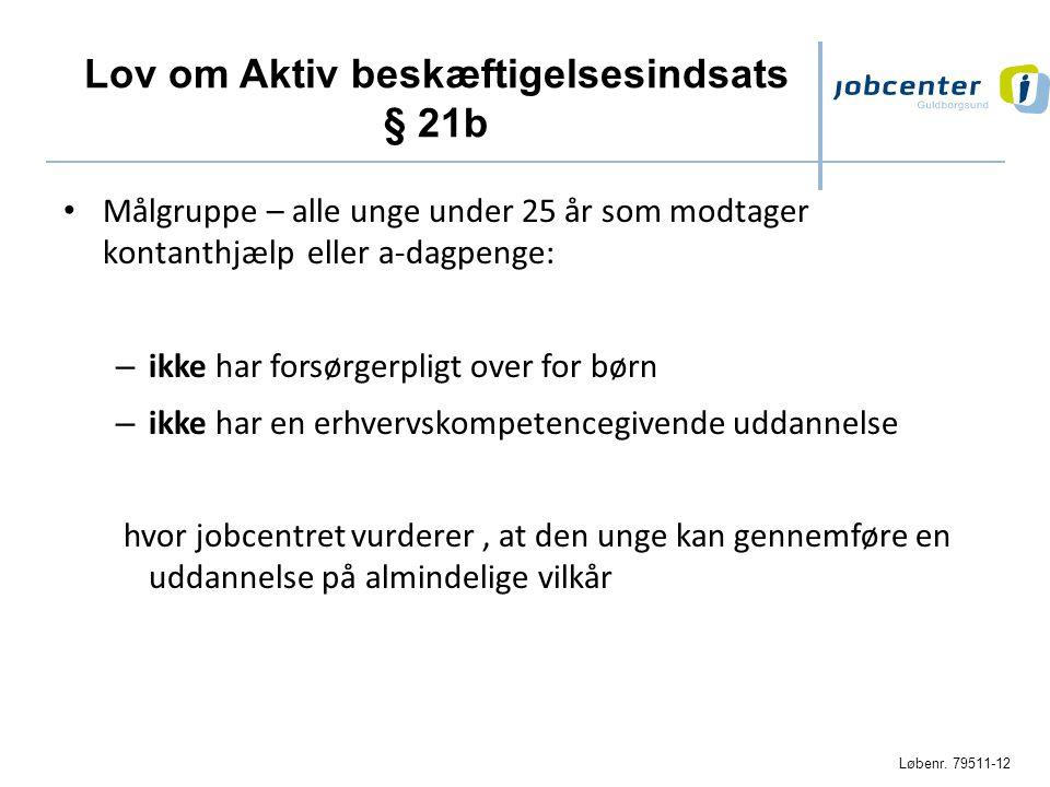 Lov om Aktiv beskæftigelsesindsats § 21b