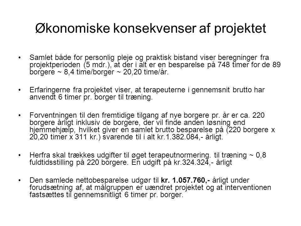 Økonomiske konsekvenser af projektet