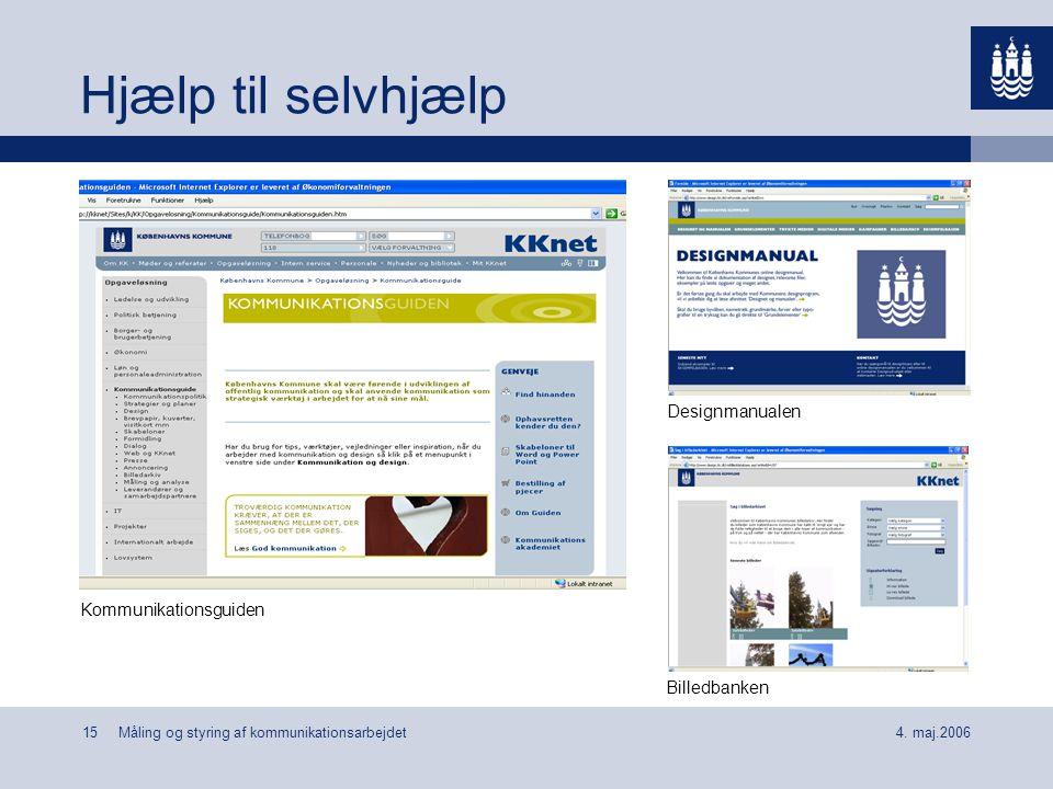 Hjælp til selvhjælp Designmanualen Kommunikationsguiden Billedbanken