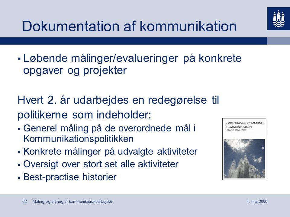 Dokumentation af kommunikation