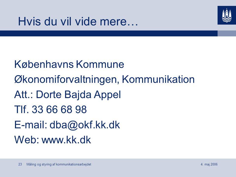 Hvis du vil vide mere… Københavns Kommune