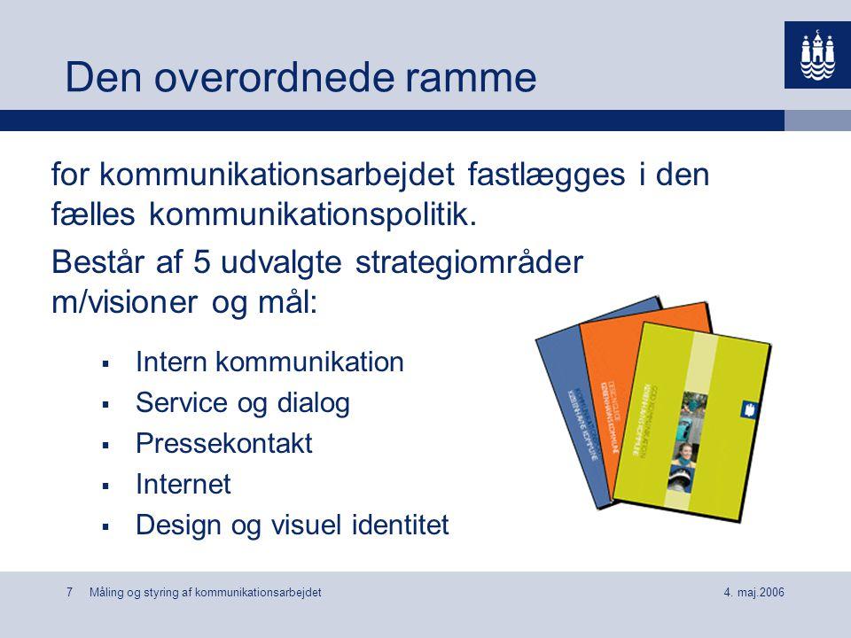 Den overordnede ramme for kommunikationsarbejdet fastlægges i den fælles kommunikationspolitik.