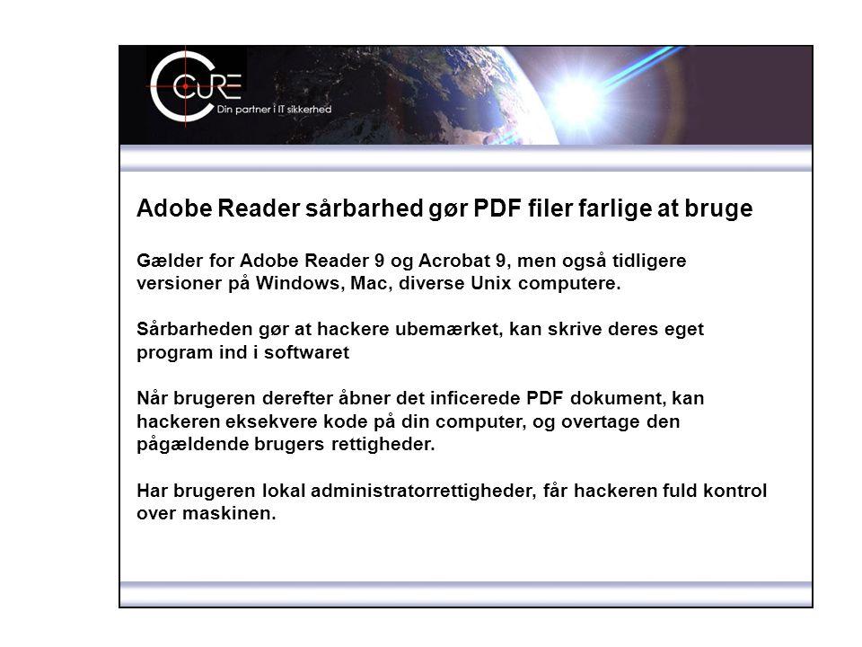Adobe Reader sårbarhed gør PDF filer farlige at bruge