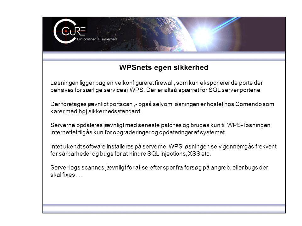 WPSnets egen sikkerhed