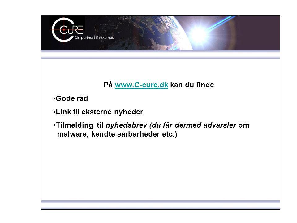 På www.C-cure.dk kan du finde