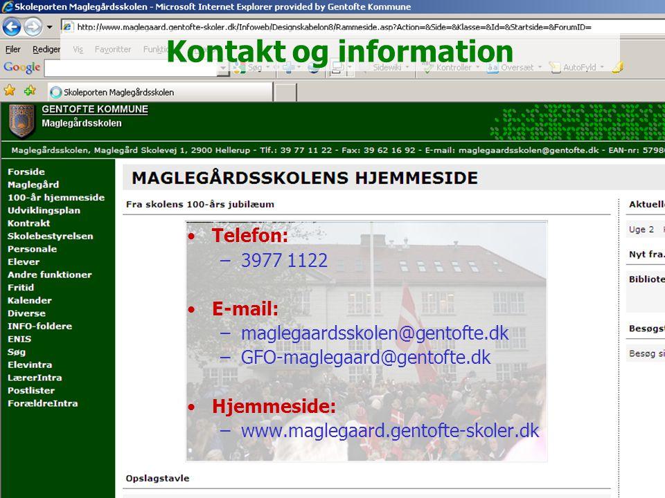 Kontakt og information