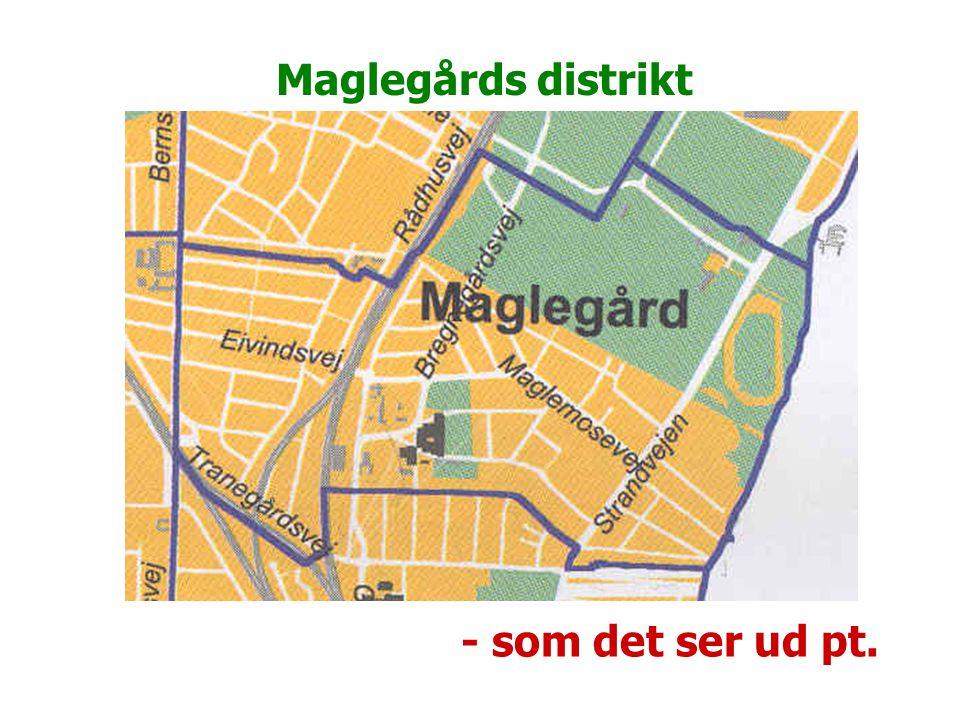 Maglegårds distrikt - som det ser ud pt.