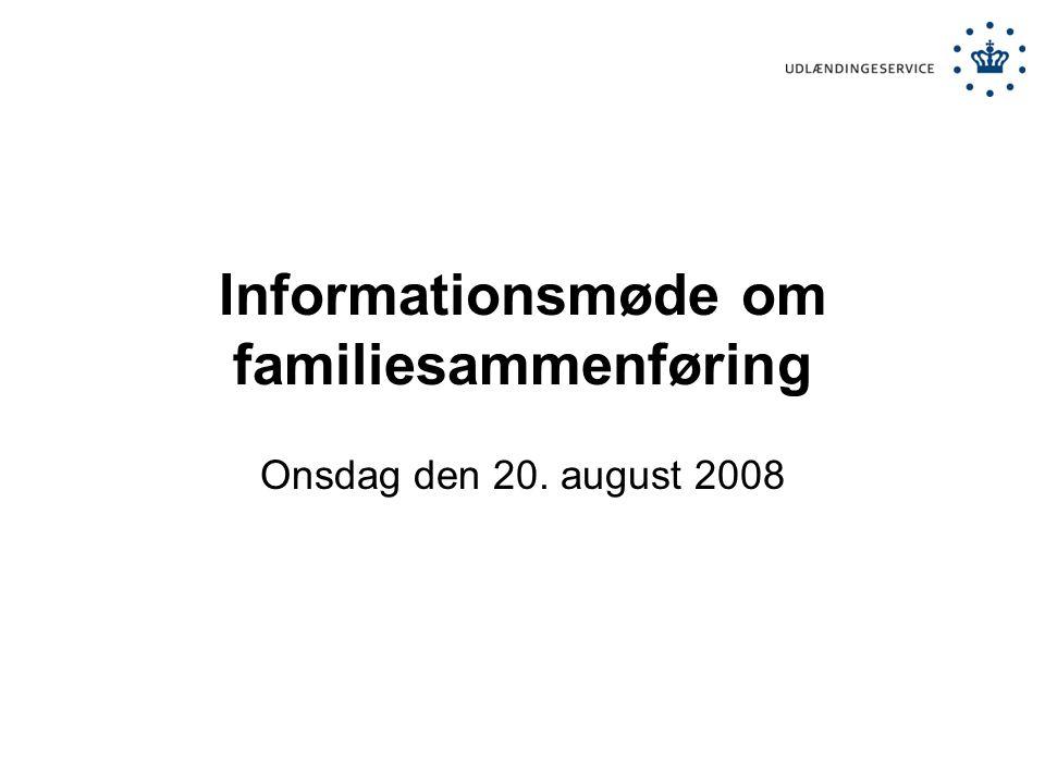 Informationsmøde om familiesammenføring