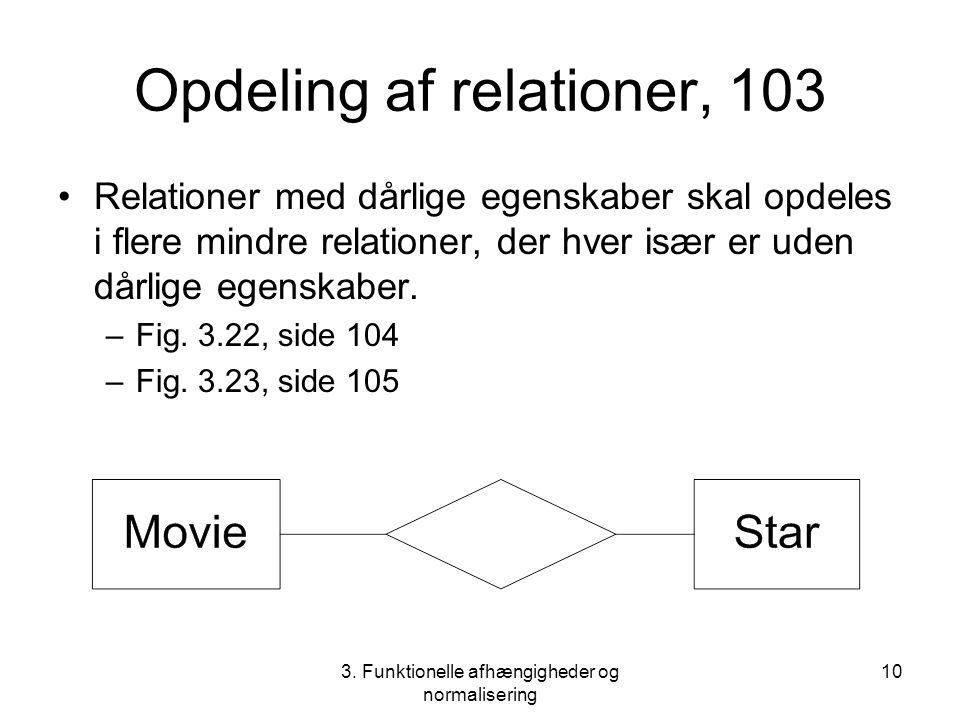 Opdeling af relationer, 103