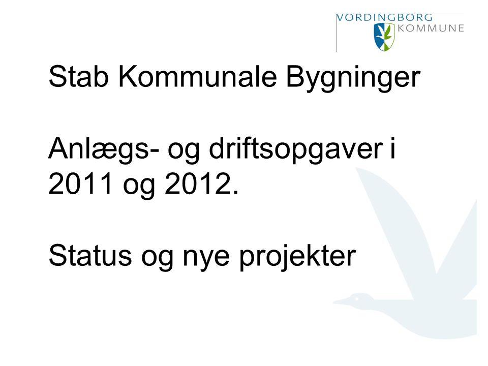 Stab Kommunale Bygninger Anlægs- og driftsopgaver i 2011 og 2012